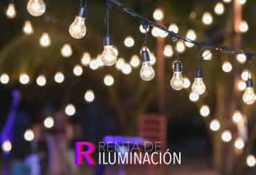 iluminacion con guirnaldas