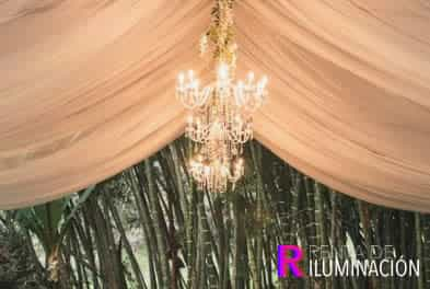 iluminacion con candelabros