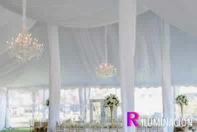 iluminacion con condelabro para bodas