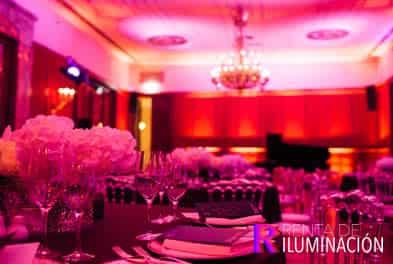 iluminacion para bodas de colores